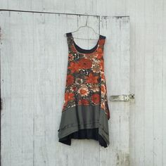 RESERVED for Lisa - upcycled clothing by CreoleSha - Funky Earthy Woodland Romantic Floral Eco Tattered Dress