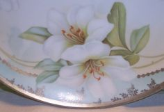 R.S. Germany Art Nouveau porcelain tray handles by AntiqueAddicts