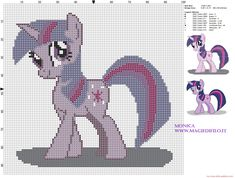 Twilight (My Little Pony) cross stitch pattern