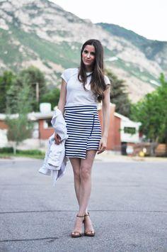 DIY Asymmetrical Wrap Skirt - FREE Sewing Pattern and Tutorial