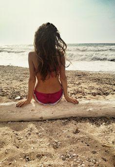 Enjoying the sea wearing Lollipop Bikini!!!  #madameshoushou #madame shou shou #bikini #swimwear #beach #sea #bow #girl #girly #retro #vintage #romantic
