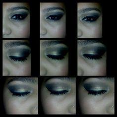 MY smokey eye look with mascara and eyeliner♥