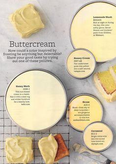 Buttercream Paint Colours