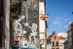 Street Art, Les Oeuvres, Murals, Street Graffiti, Fresco, Belgium, Vacation, Wall Paintings, Mural Painting