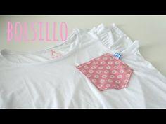 Tutorial DIY para poner un bolsillo a una camiseta basica ( patrón incluido )/ Mes de la camiseta - YouTube