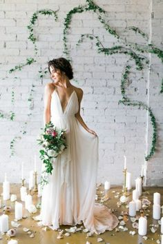 Silk Gauze Ombre Wedding Gown - The Clementine by Cleo and Clementine - Wedding Dresses Style Woman Wedding Dresses With Straps, Wedding Dress Train, Backless Wedding, Ivory Wedding, Cheap Wedding Dress, Bridal Dresses, Wedding Gowns, Prom Dresses, Boho Wedding