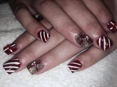 The Christmas nails Maritza did for my sister 2013