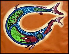 """Carl Ray (Woodland Cree) """"Circle of Life"""" Acrylic painting on canvas Native American Artists, Canadian Artists, Daphne Odjig, David Wood, Native Canadian, Woodland Art, Group Of Seven, Aboriginal Painting, Indigenous Art"""