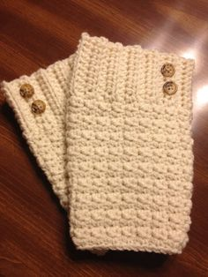 Women's Rippled Boot Cuffs: I'm thinking I could make these.