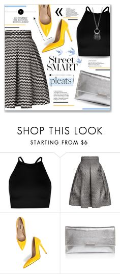 """Pleats!"" by lilymillyrose ❤ liked on Polyvore featuring Boohoo, Rumour London, Jezzelle, Loeffler Randall and Simply Vera"