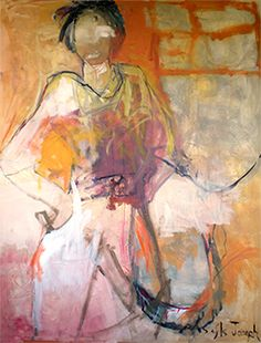 """new beginnings"" - painting by sefla joseph"