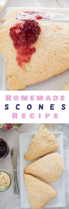 Finally - a simple, delicious homemade scones recipe! This is a one bowl recipe that creates crumbly soft scones - just like at a tea house. The secret to this recipe is sour cream! Serve with clotted cream, jam and tea.