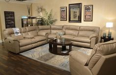 Catnapper Nolan Reclining Sectional in Putty