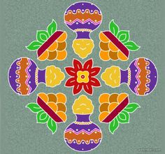 25 Beautiful Pongal Kolam And Rangoli Designs
