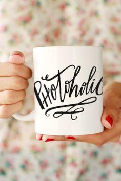 Photoholic Mug - Hi, my name is Crissy and I'm a  photoholic. Enable the photoholics in your life with this cute mug.
