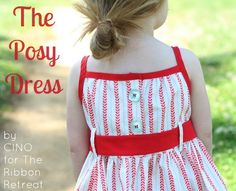 Learn how to make your own pattern, make bias tape, and more! The Posy Dress Tutorial is simple and teaches so much. And it's absolutely adorable!