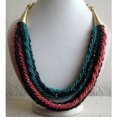 Pink Necklace/Blue Necklace/Statement Necklace/Chunky by FootSoles, $27.90