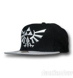 Zelda Crest Flat Bill Snapback Cap from superherostuff.com I like my hats  without sports a2bd5c7e723