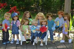 Dolls World: All of my Kidz n Cats dolls.
