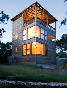 Modern House Design & Architecture : Modern residential addition: Tower House by Andersson Wise Architects - Dear Art Casas Containers, Building A Container Home, Tower House, Shipping Container Homes, Shipping Containers, Exterior Design, Modern Exterior, Interior Architecture, Contemporary Architecture
