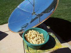 Solar Cooker Honey Popcorn