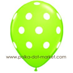 Thinking of doing a polka dot party for Daniel's third birthday, these balloons come in several colors.
