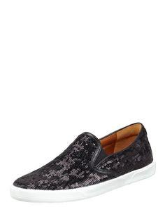 Sunday, September Jimmy Choo Demi Sequined Slip-On Sneaker, 212 872 8947 Rocker Chic, Shoes Sneakers, Women's Shoes, Ballerina Flats, Vans Classic Slip On, Womens Flats, Her Style, Jimmy Choo