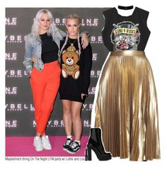 """""""Maybelline's Bring On The Night LFW party w/ Lottie and Lou"""" by amberamelia-123 ❤ liked on Polyvore featuring A.L.C., Givenchy and NYX"""