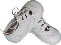 Zapato de niño piel blanco mod. 1705 Ingles