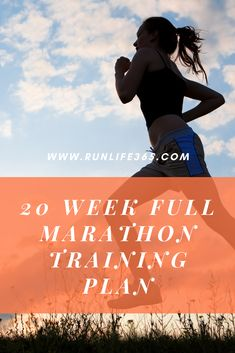 This 20 week full marathon training plan will be a great starting place for anyone wanting to run their first marathon. Perfect for beginners Houston Marathon, First Marathon, Training Plan, Marathon Training, Marathon Runners, Getting Out, The Past, Running, How To Plan
