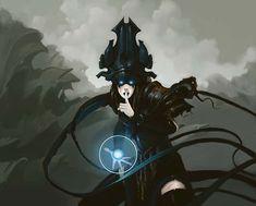 Voidmage Husher art by Chippy Character Concept, Character Art, Concept Art, Fantasy Women, Dark Fantasy, Dnd Characters, Fantasy Characters, Fantasy Inspiration, Character Inspiration