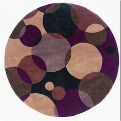 New Wave 37 Black Contemporary Round Wool Rug - NW-37BLK By Momeni Rugs