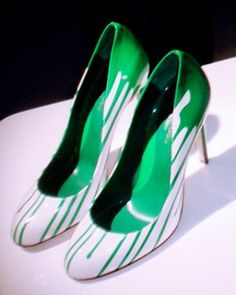 Green shoes - myLusciousLife.com.jpg ~  This would look great with a green Miche Bag!