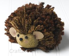 Cute craft idea for kids: how to make a porcupine with yarn and STYROFOAM brand foam.  - Crafts 'n Coffee