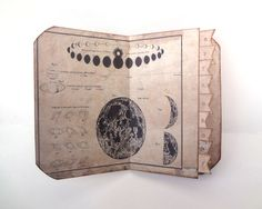 Galaxy Travel Journal, Cosmos Scarpbook, Astronomy Journal, Science Memory Book, Moon Phases Diary, Vintage Travel Keepsake, MADE TO ORDER by Istriadesign on Etsy https://www.etsy.com/listing/165111471/galaxy-travel-journal-cosmos-scarpbook