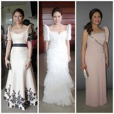 pinay style: the terno barong Modern Filipiniana Gown, Filipiniana Wedding, Rustic Wedding Gowns, Wedding Dresses, Wedding Ideas, Philippines Fashion, Philippines Culture, Mode Glamour, Traditional Dresses