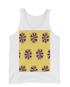 Buy unique print-on-demand products from independent artists worldwide or sell your own designs at the drop of an image! Floral Tank Top, Online Printing, Tank Man, Tank Tops, Yellow, Stuff To Buy, Design, Fashion, Moda