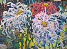 chrysanthemum №1  the flowers of Evil my oil painting