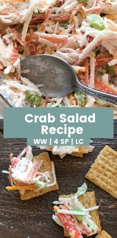 Easy Crab Salad Recipe Made With Imitation Crab Meat Low Carb And Weight Watcher Friendly Salad Weight Crab Salad Recipe Sea Food Salad Recipes Crab Salad