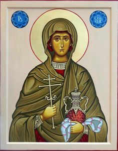 Anastasia of Sirmium by Shota Tsintsadze Tamuna Javaxishvili of Georgia - December 22 Religious Images, Religious Icons, Religious Art, Catholic Saints, Patron Saints, St Anastasia, Church Icon, Roman Church, Biblical Art
