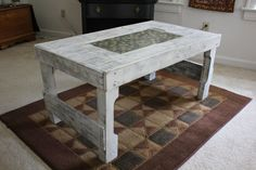 Upcycled Wooden Pallet Coffee Table with Tile