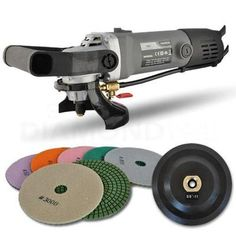 "View Item Hardin 5"" Variable Speed Granite and Stone Wet Polisher & Grinder W/5"" Diamond Pad Set"
