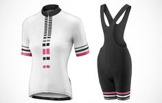 Liv Women's Signature S/S Jersey and Signature Bib Shorts http://www.bicycling.com/bikes-gear/apparel/the-40-best-cycling-kits-of-2016/slide/5