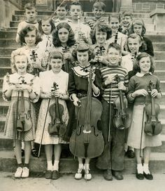 +~+~ Vintage Photograph ~+~+  Young Orchestra