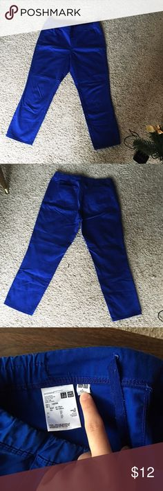 Uniqlo royal blue Ankle Pants In great condition,no stain no faded. It says size L but I feel it should be S. Uniqlo Pants Ankle & Cropped