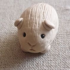 POLYMER CLAY CAKE TOPPER/GIFT GERTIE GUINEA PIG