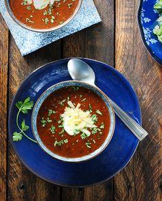 Sweet and Smoky Sriracha Black Bean Soup by SoupAddict.com