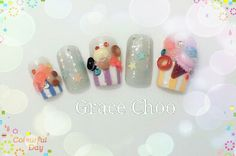 Nail Art~ Candy, Cupcake, Oreo, Ice-cream and etc.