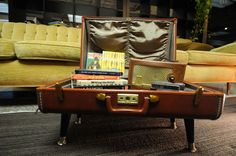 suitcase coffee table with handy storage