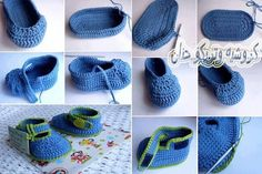 Luty Artes Crochet: Pap de sapatinho de crochê achei no facebook.
